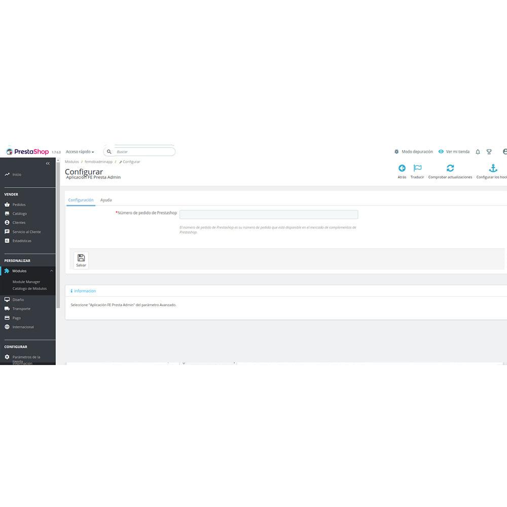 module - Dispositivos móviles - FE Presta Admin App - fácil a gestionar Tienda admin - 7