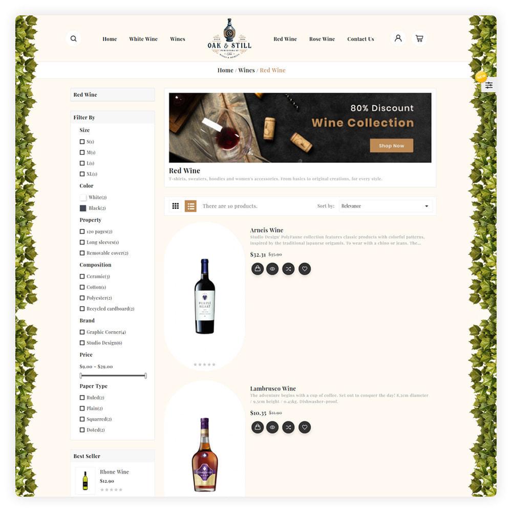 theme - Drink & Wine - OAK & Still Wine Shop - 4