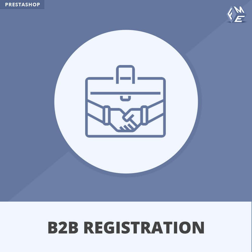 module - Inscripción y Proceso del pedido - Registro B2B - 1