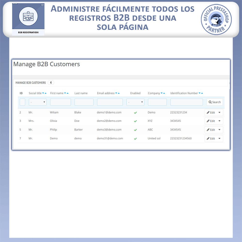 module - Inscripción y Proceso del pedido - Registro B2B - 5