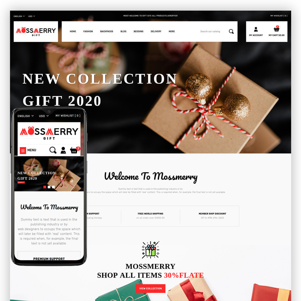 theme - Gifts, Flowers & Celebrations - Mossmerry - Gift Store - 1