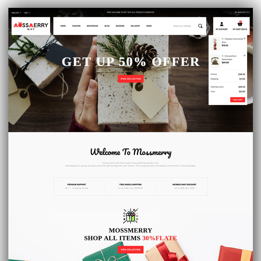 theme - Gifts, Flowers & Celebrations - Mossmerry - Gift Store - 3