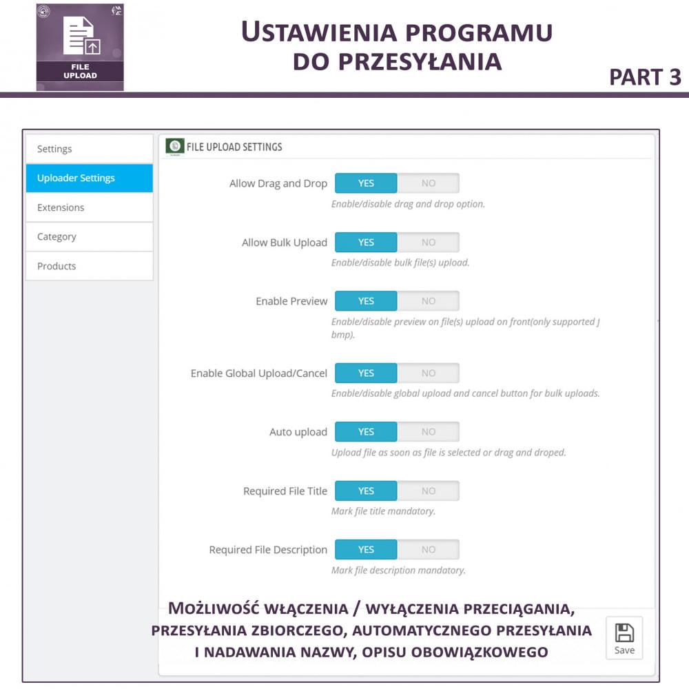module - Dodatkowe informacje & Zakładka produktu - Przesyłanie Pliku Przez Klienta z Produktu, Cart - 10