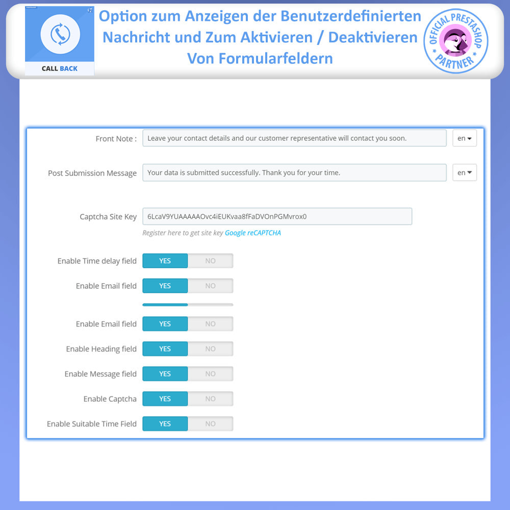 module - Support & Online-Chat - Rückruf – Fixiertes & Schwebendes Rückruf-Formular - 10