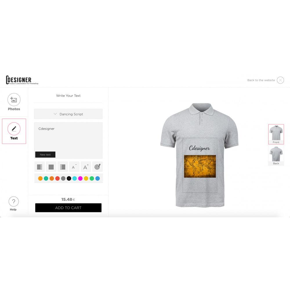 module - Combinaciones y Personalización de productos - Product Customization Designer - Custom Product Design - 3