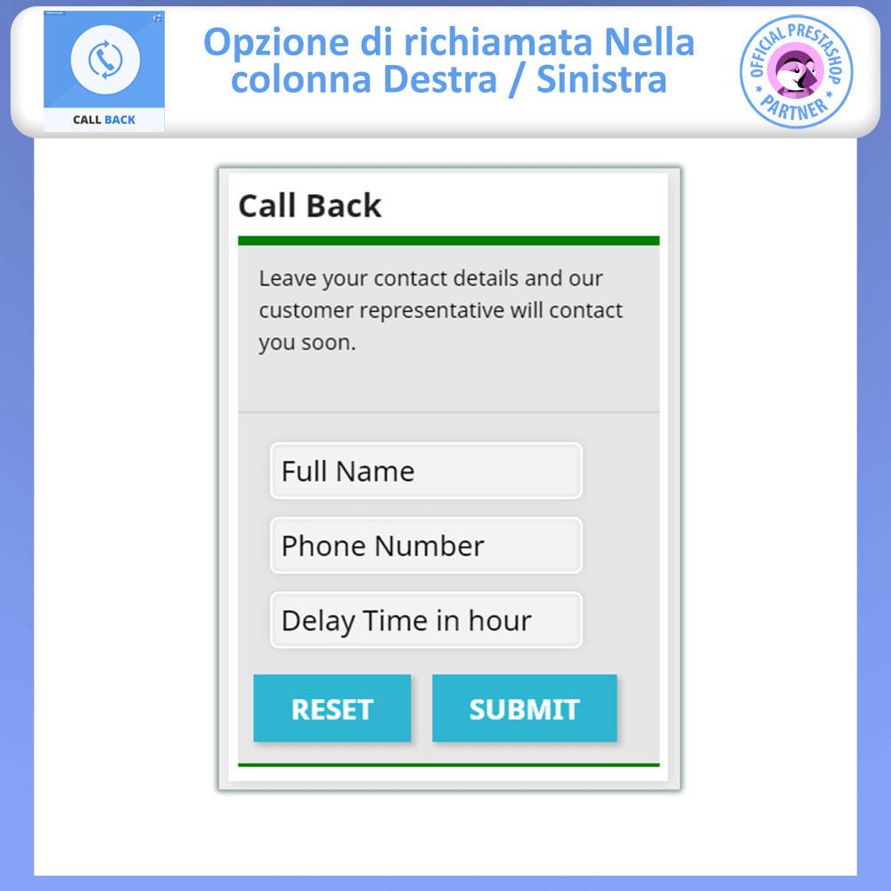module - Supporto & Chat online - Call Back - Modulo di Richiamo Fisso e Mobile - 10