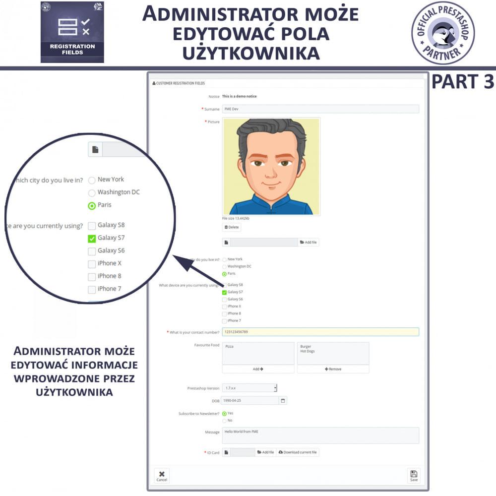 module - Procedury składania zamówień - Niestandardowe Pola Rejestracyjne - 9