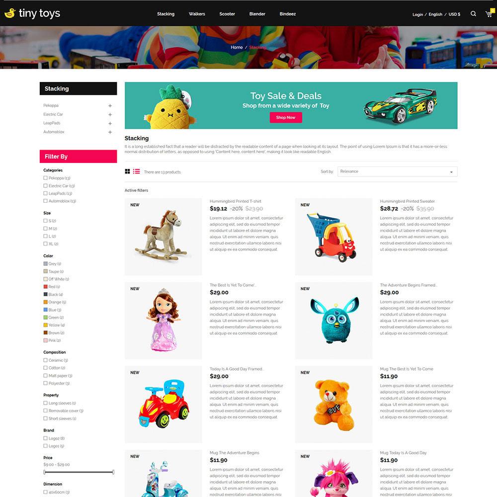 theme - Bambini & Giocattoli - Tuny Baby Kids - Negozio di giocattoli - 4