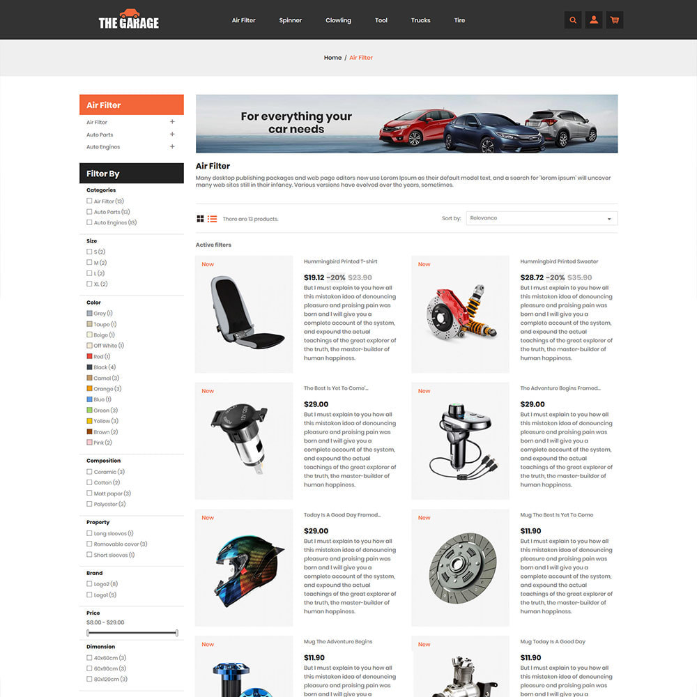 theme - Auto & Moto - The Garage Car - Magasin d'automobiles - 5