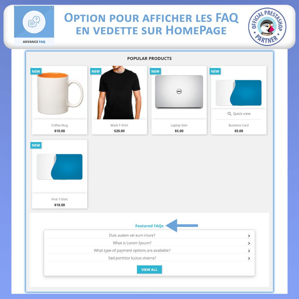 module - FAQ (questions fréquentes) - FAQ Avancée - 2