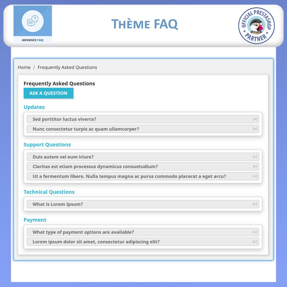 module - FAQ (questions fréquentes) - FAQ Avancée - 5