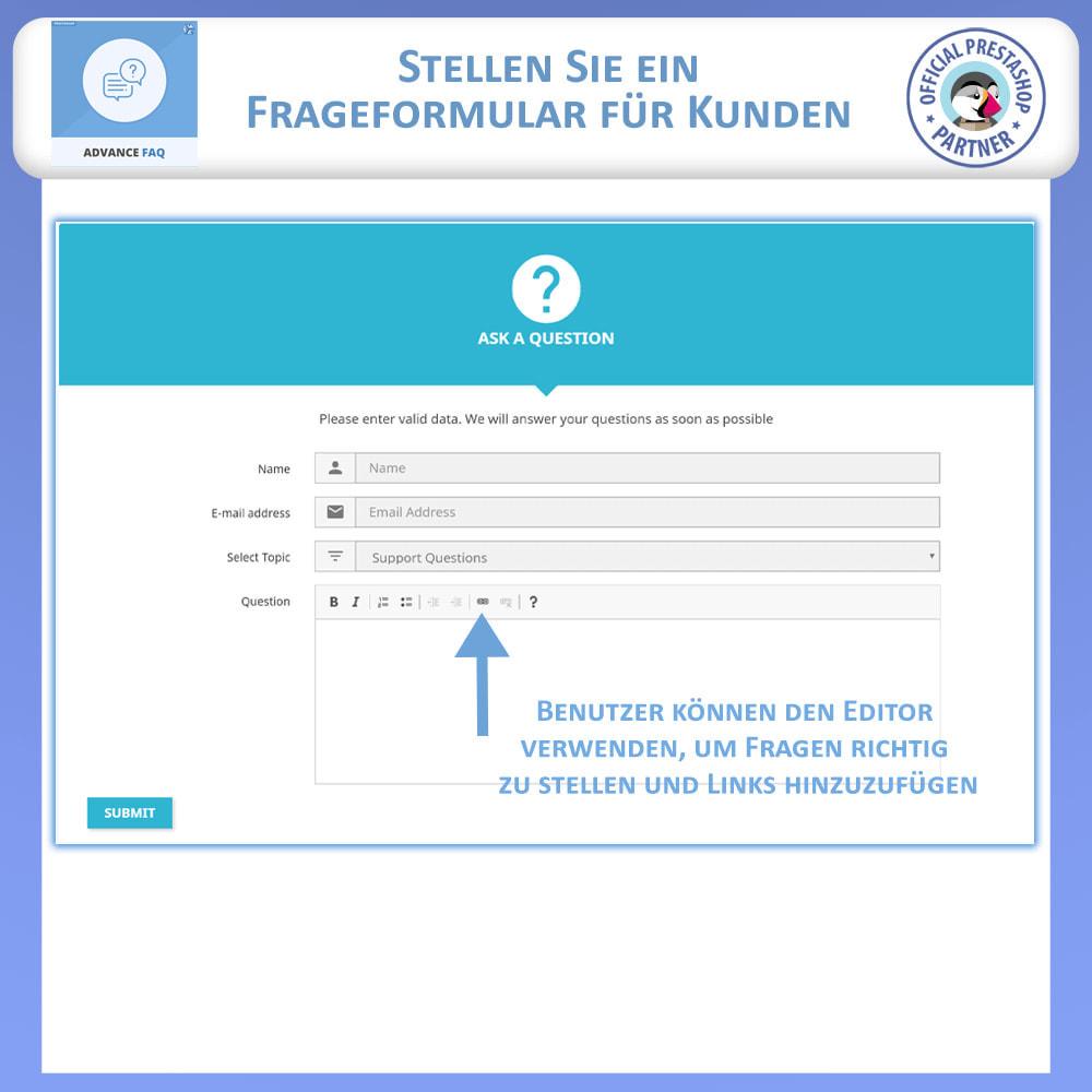 module - FAQ (Häufig gestellte Fragen) - Erweiterte FAQ - 8
