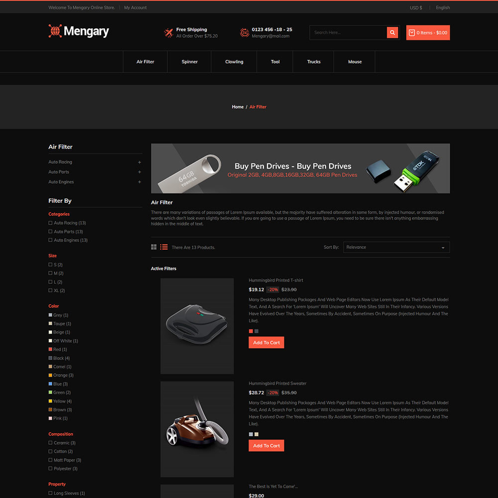 theme - Automotive & Cars - Black  Computer - Mobile  Electronics  Store - 3