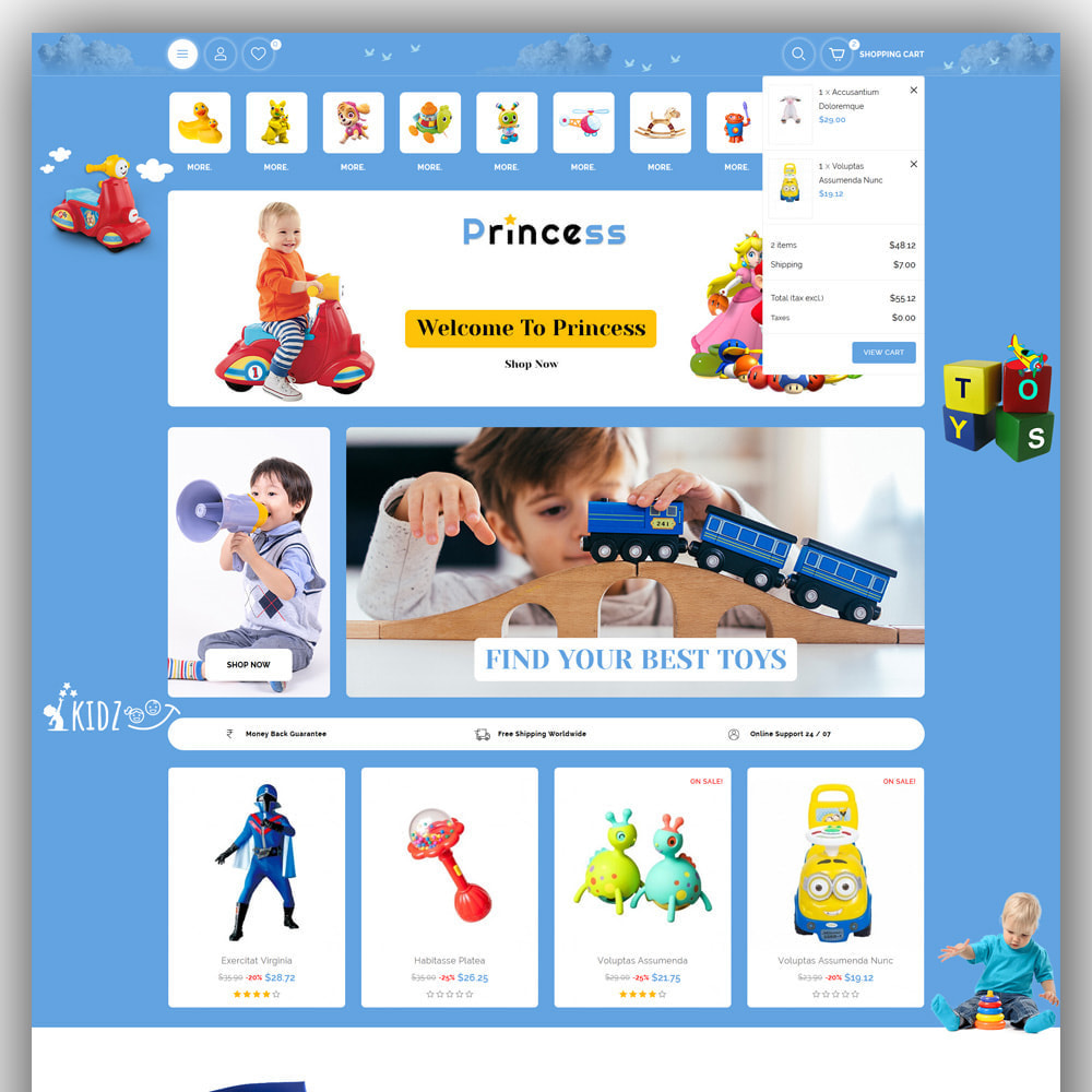 theme - Kids & Toys - Princess - Kids Store - 3