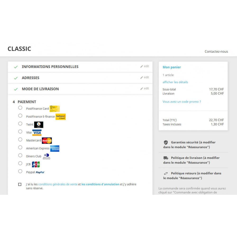 module - Pagamento por cartão ou por carteira - PostFinance & Twint - 3