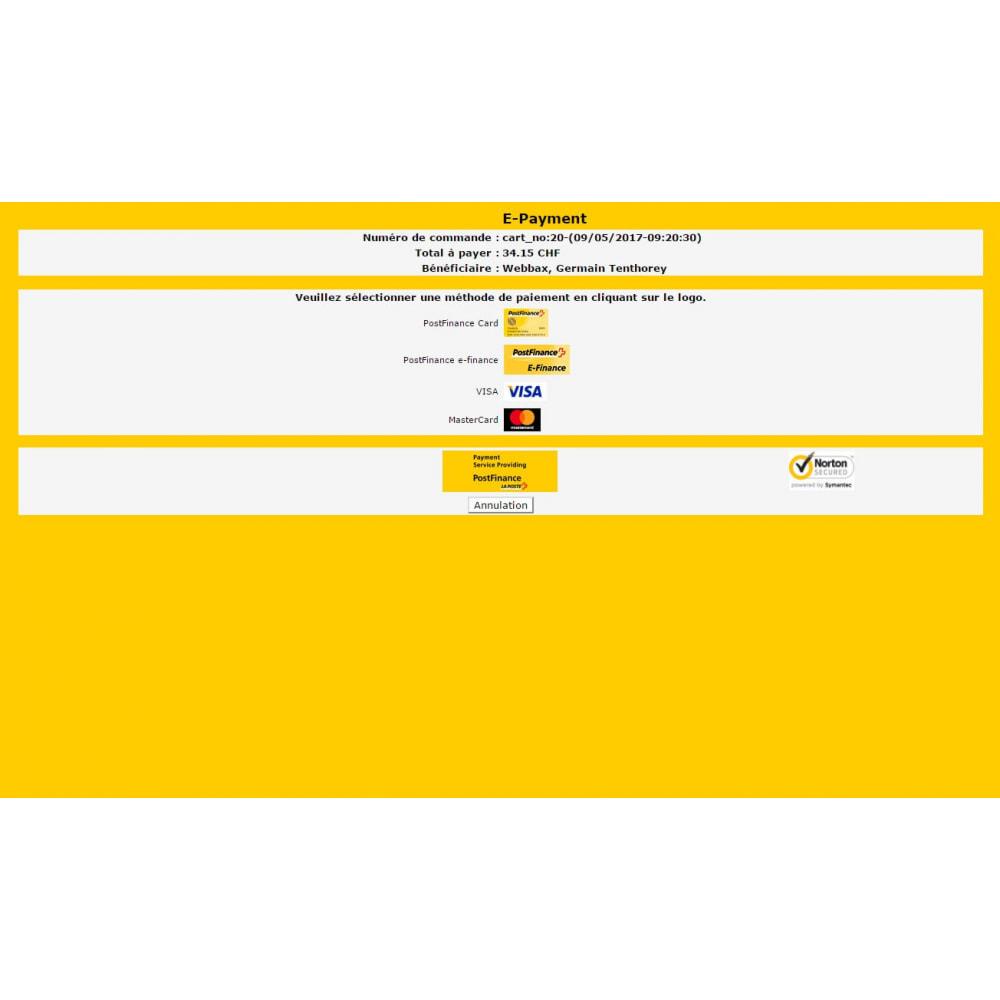 module - Pagamento por cartão ou por carteira - PostFinance & Twint - 4