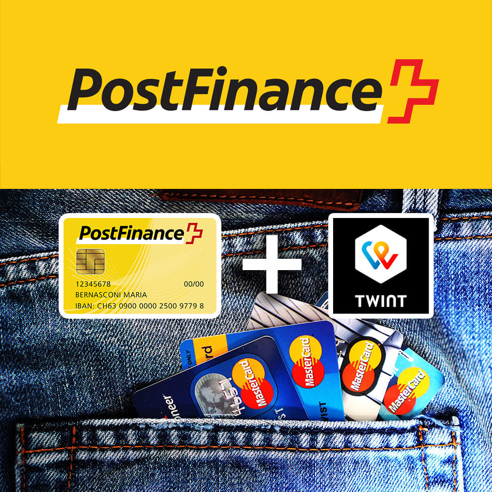 module - Zahlung per Kreditkarte oder Wallet - PostFinance & Twint - 1