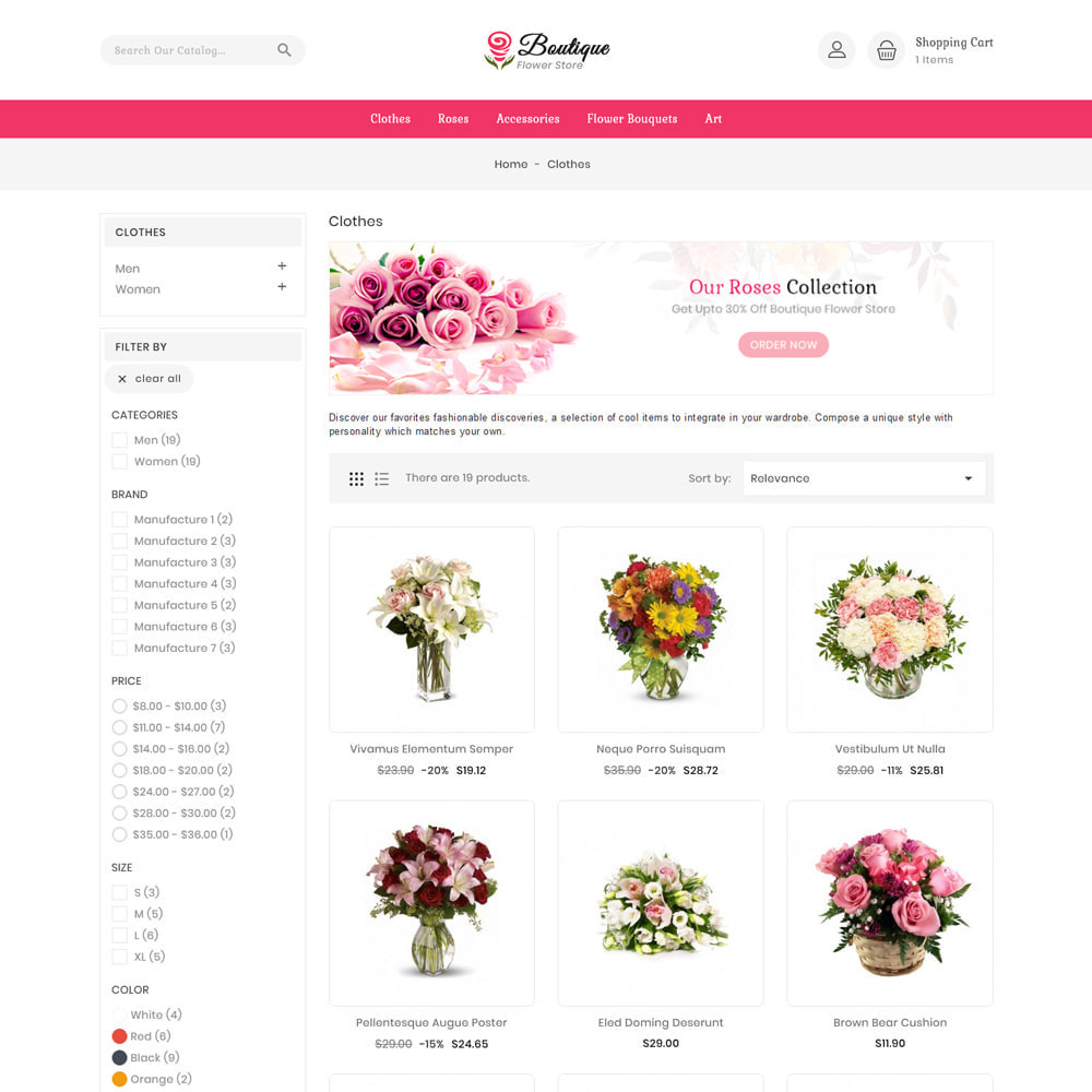 theme - Gifts, Flowers & Celebrations - Boutique flower store - 3