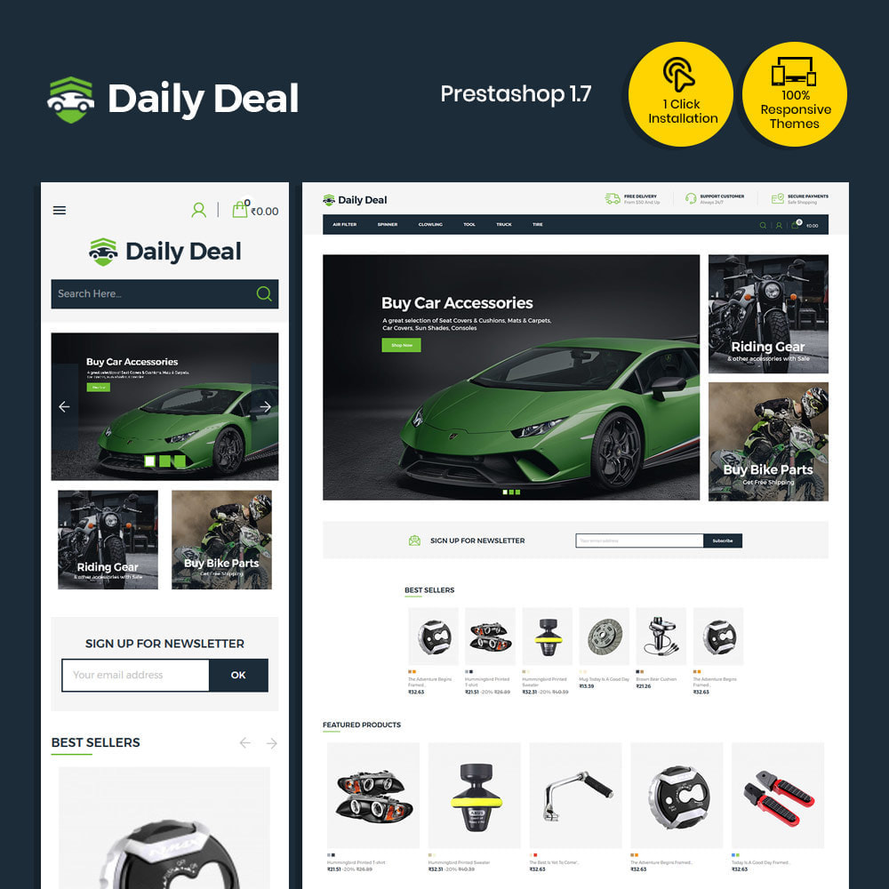 theme - Automotive & Cars - Daily Deal - Tool Auto Car  Store - 1