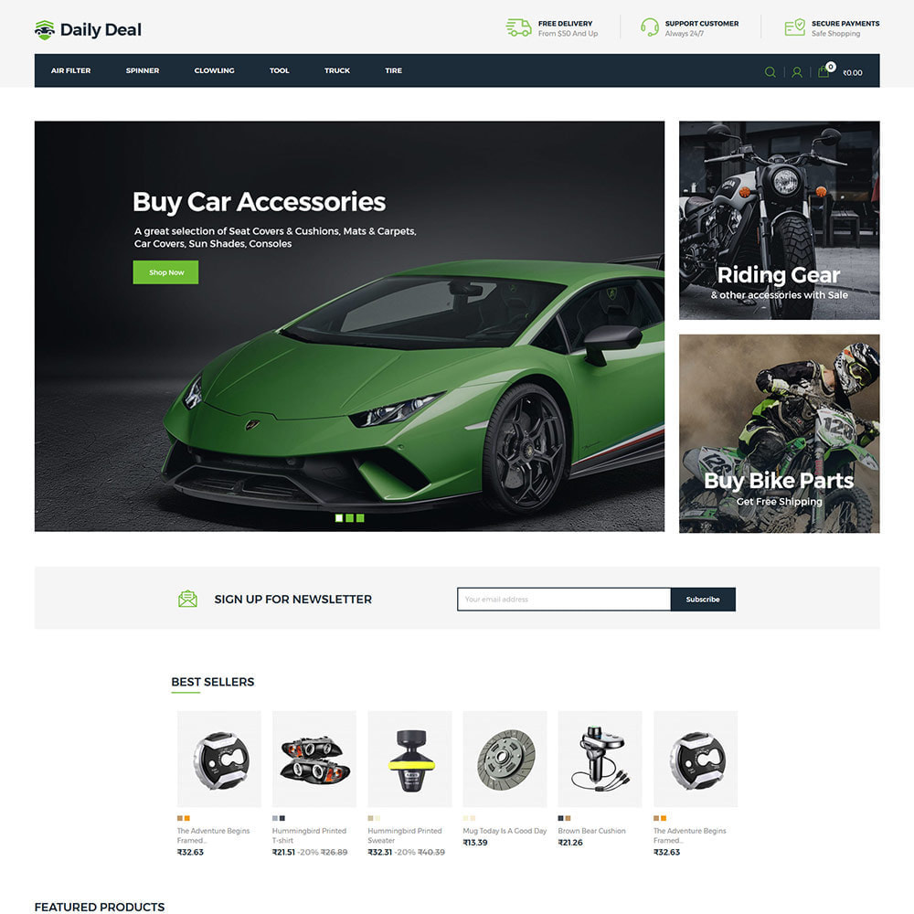 theme - Automotive & Cars - Daily Deal - Tool Auto Car  Store - 2
