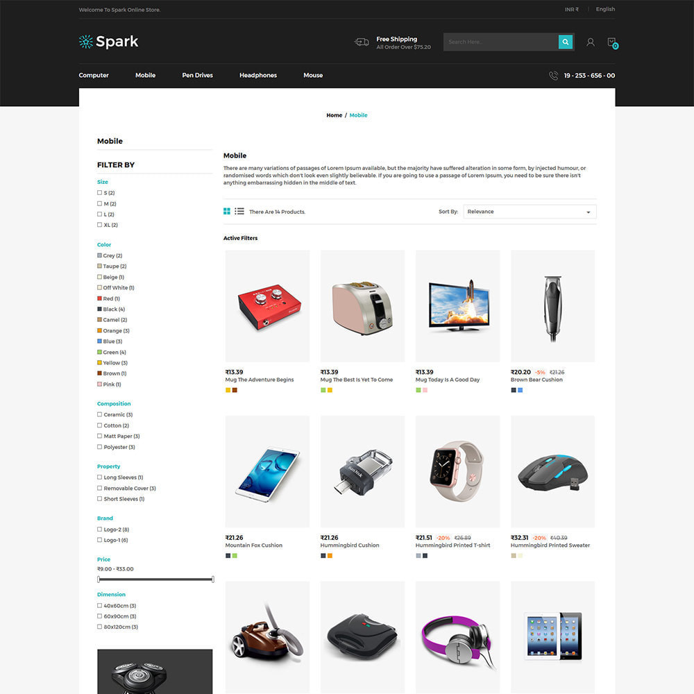 theme - Авто и Мото - Spark Mobile - Digital Electronics Store - 3