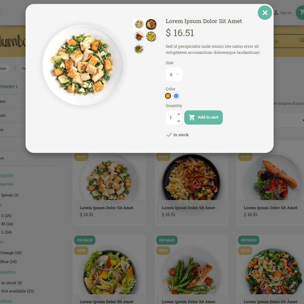 theme - Food & Restaurant - Pastele Food Store - 5