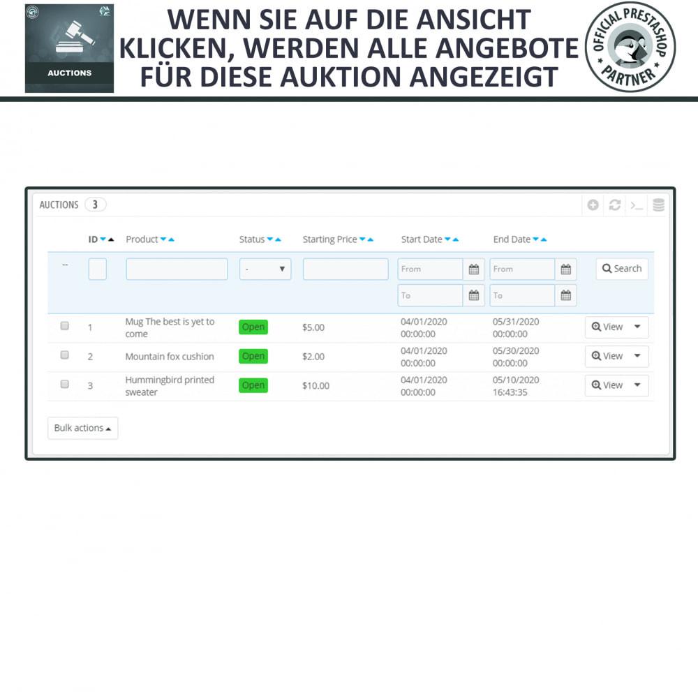 module - Auktionsseiten - Auktion Pro, Online-Auktions und Gebotsmanagement - 21