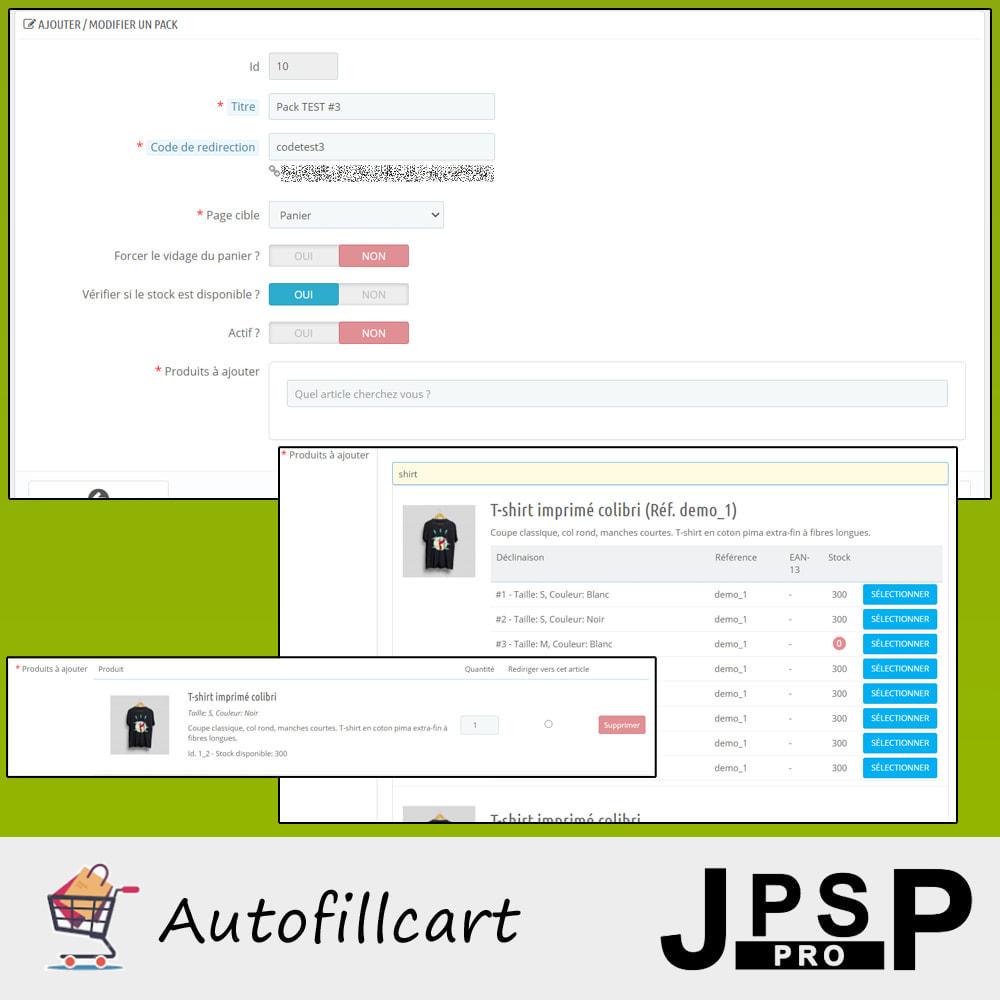 module - Inscription & Processus de commande - Remplissage automatique du panier - 3