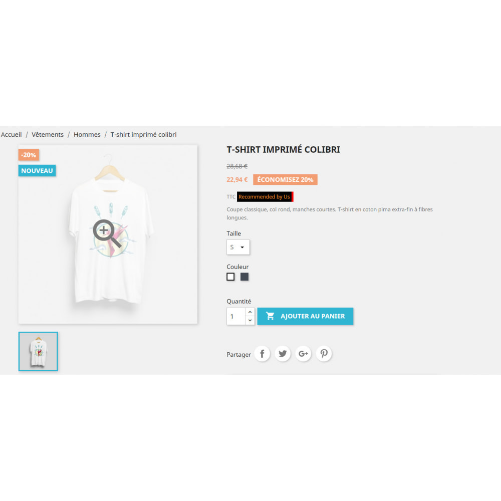 module - Additional Information & Product Tab - Tag your product - 2