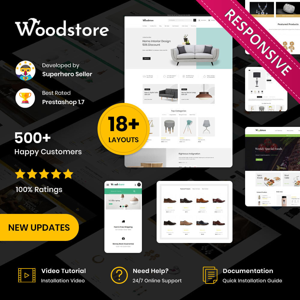 theme - Casa & Giardino - Wood - il negozio di mobili - 1