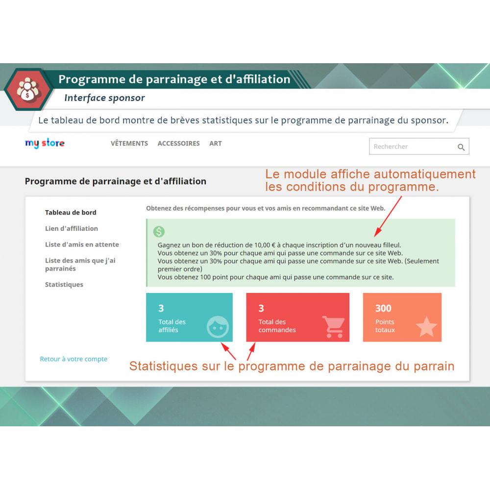 module - Référencement payant (SEA SEM) & Affiliation - Programme de parrainage et d'affiliation - 1