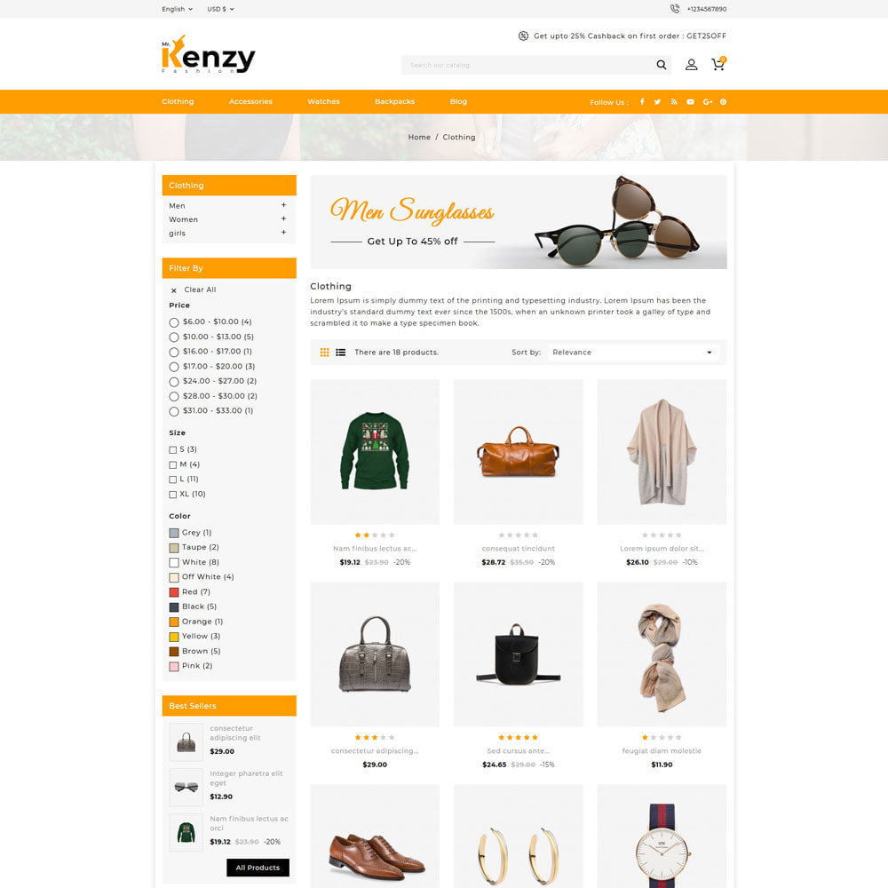theme - Mode & Chaussures - Kenzy - Fashion Store - 3