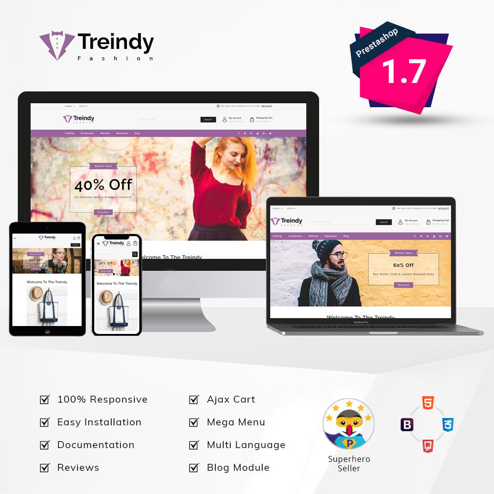 theme - Fashion & Shoes - Treindy - Fashion Store - 1