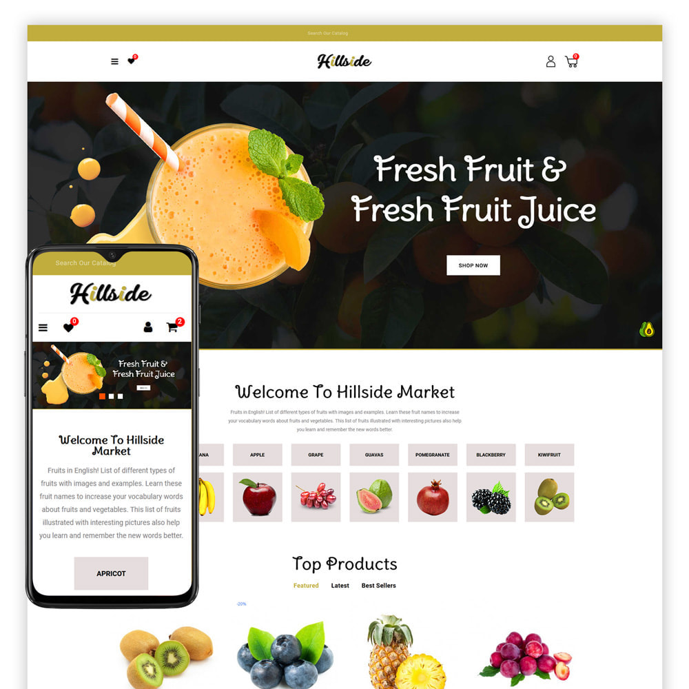 theme - Food & Restaurant - Hillside - Food Store - 1