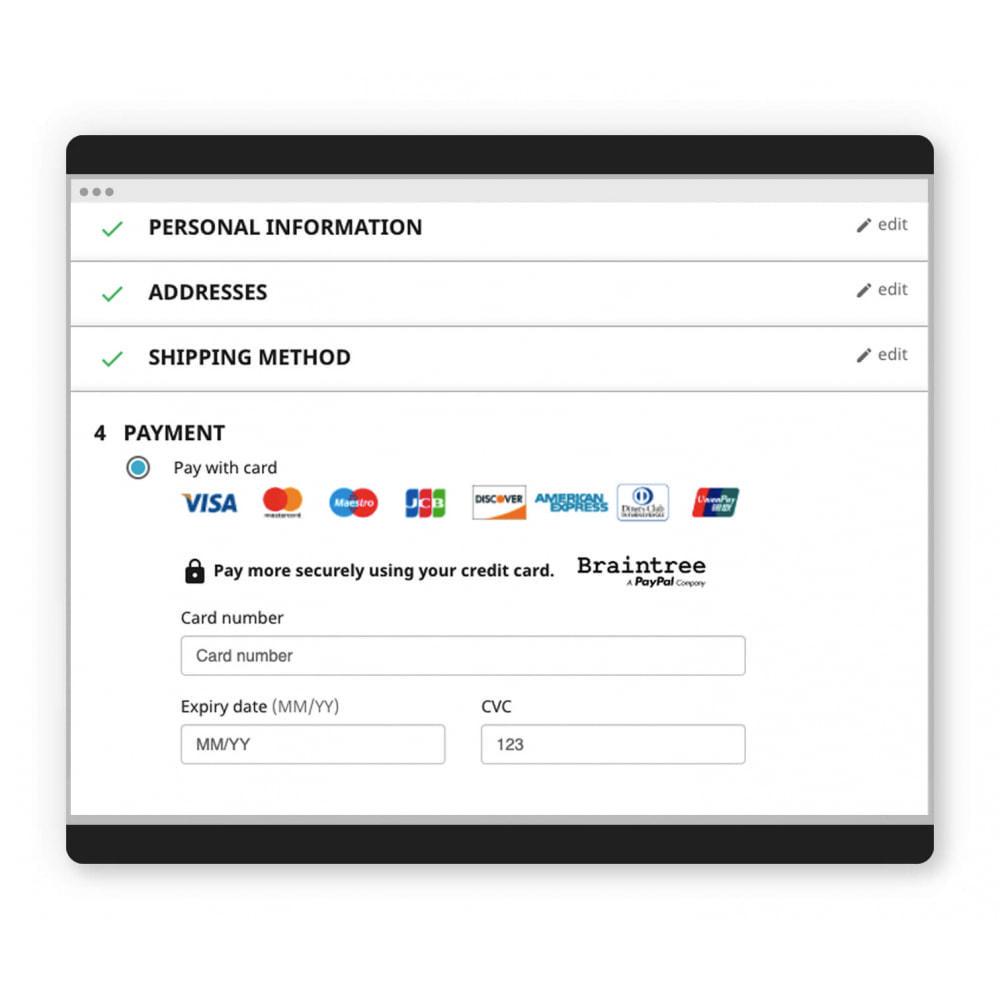module - Pagamento con Carta di Credito o Wallet - Ufficiale di Braintree - 2