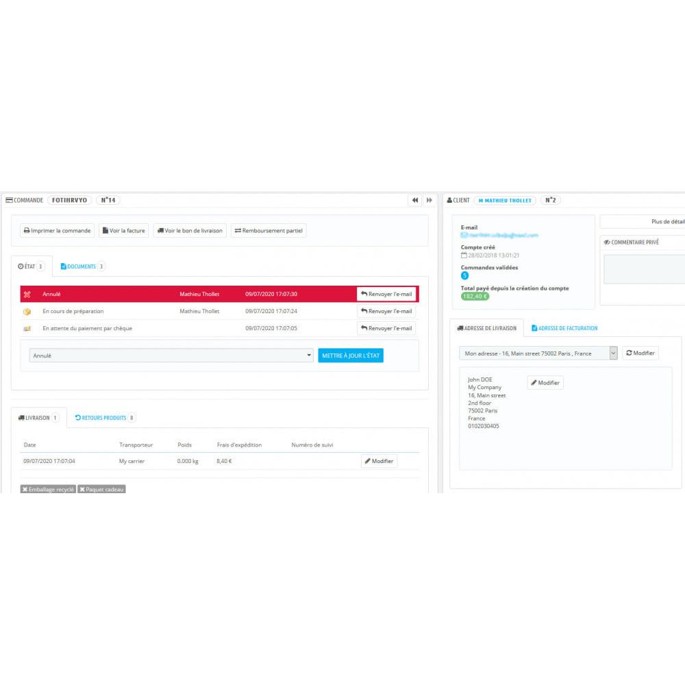 module - Comptabilité & Facturation - Avoir automatique sur les commandes annulées - 2