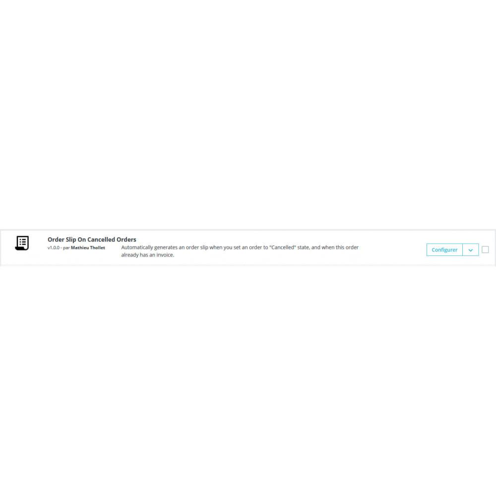 module - Boekhouding en fakturatie - Automatische bestelling slip geannuleerde bestellingen - 1