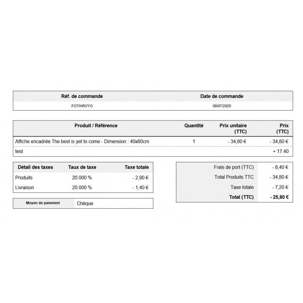 module - Boekhouding en fakturatie - Automatische bestelling slip geannuleerde bestellingen - 2