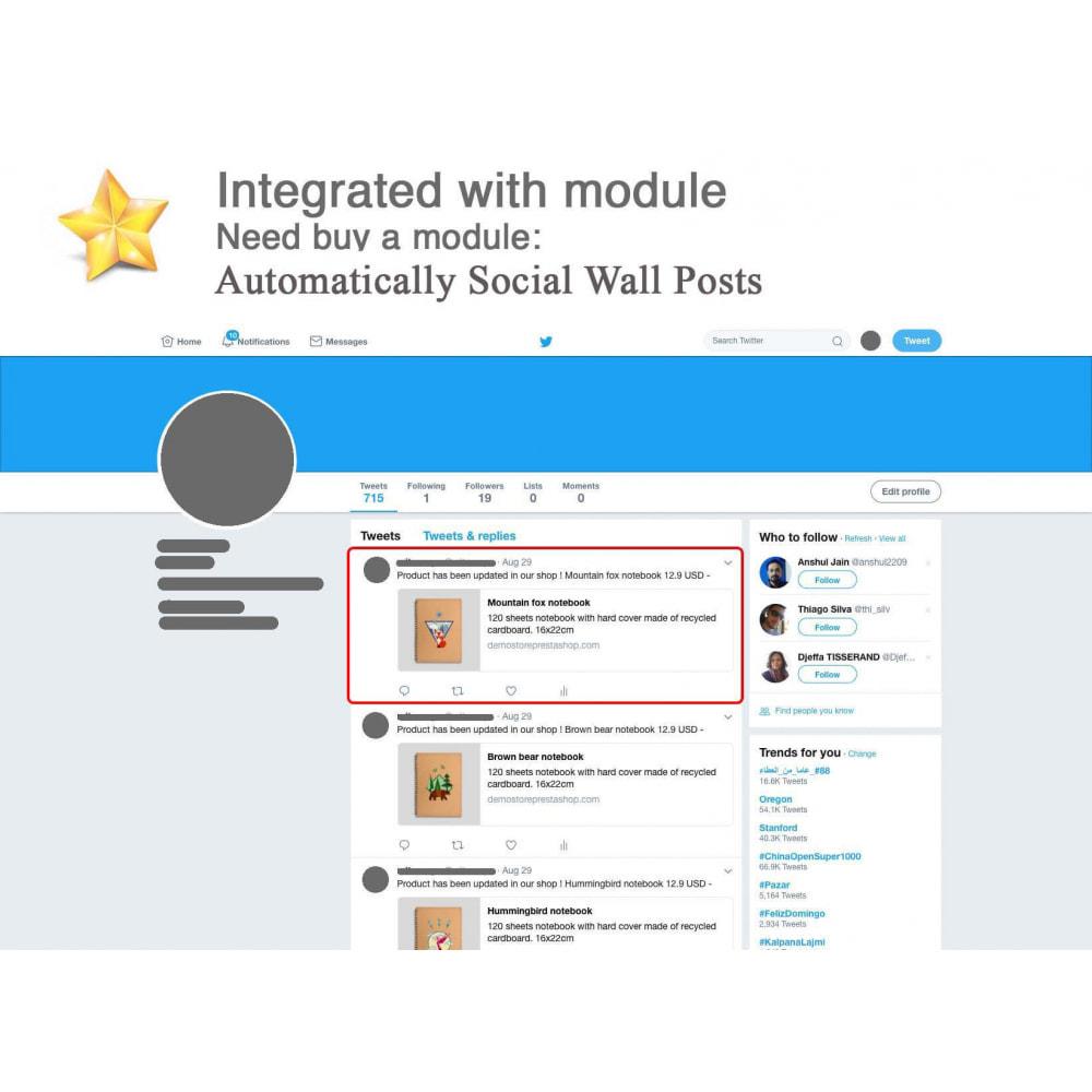 module - Widgets réseaux sociaux - Produit Avis + Programmes fidélité + Profil utilisateur - 5