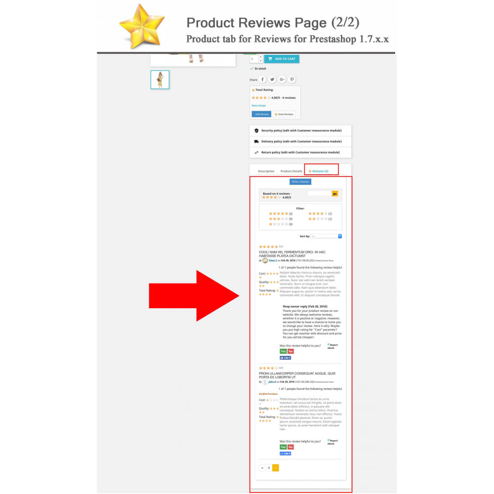 module - Social Widget - Product Reviews PRO + Loyalty Program + User Profile - 2
