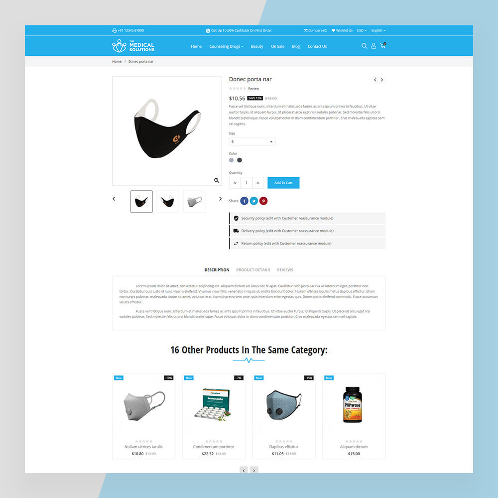 theme - Saúde & Beleza - Medical Solutions - Medical and Medicine Store Template - 2