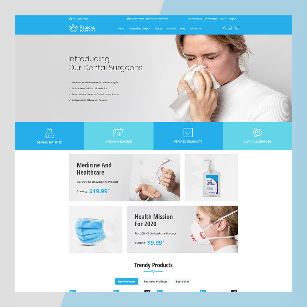 theme - Saúde & Beleza - Medical Solutions - Medical and Medicine Store Template - 6
