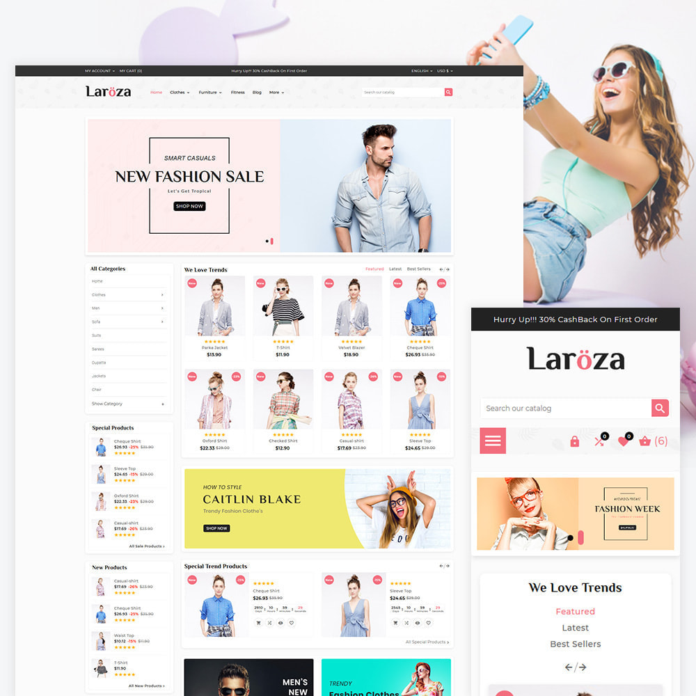 theme - Moda & Obuwie - Laroza - Style Fashion Store - 1
