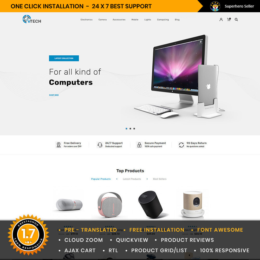 theme - Elektronik & High Tech - Etech Electronics & Computers Store - 1
