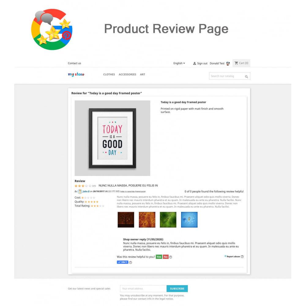 module - Avis clients - Produit+Boutique Avis, Points fidélité, Google Snippets - 12