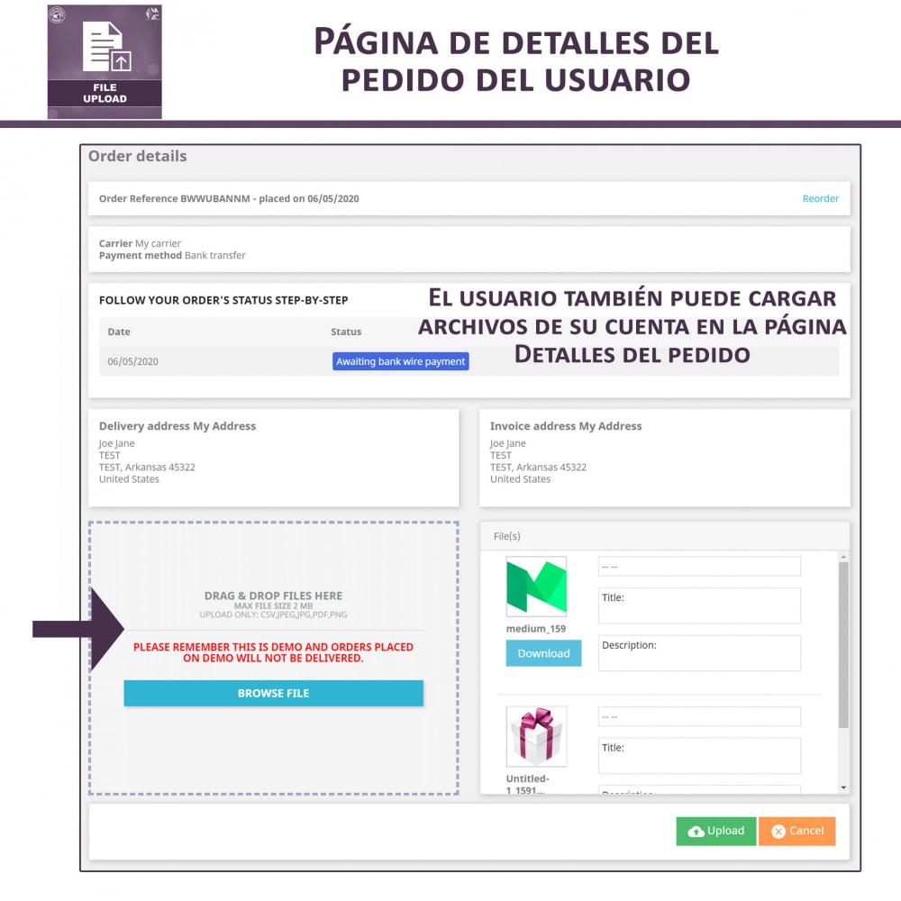 module - Informaciones adicionales y Pestañas - Carga de Archivos por Cliente - 7