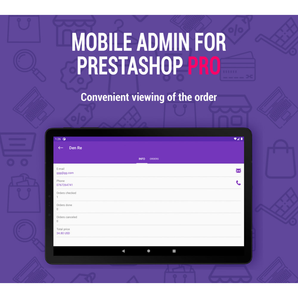 module - Mobile - Mobile Admin for unlimited managers, sites iOs&Android - 1