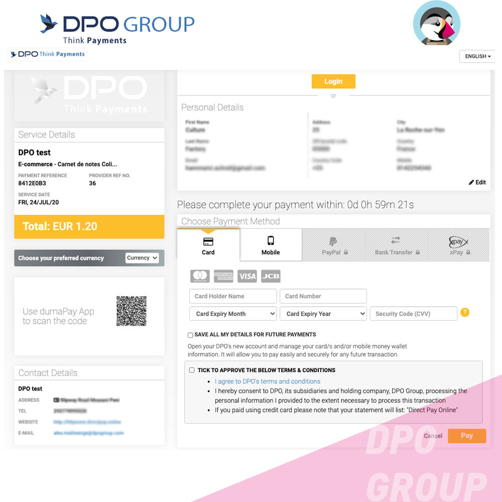 module - Mobile - DPO Group payment - 4