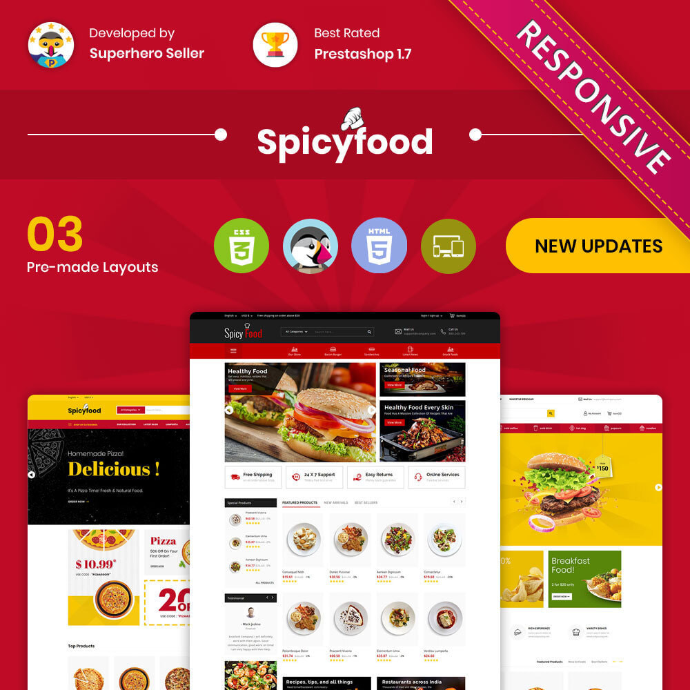 theme - Cibo & Ristorazione - Spicy Food - The Mega Food Shop - 1