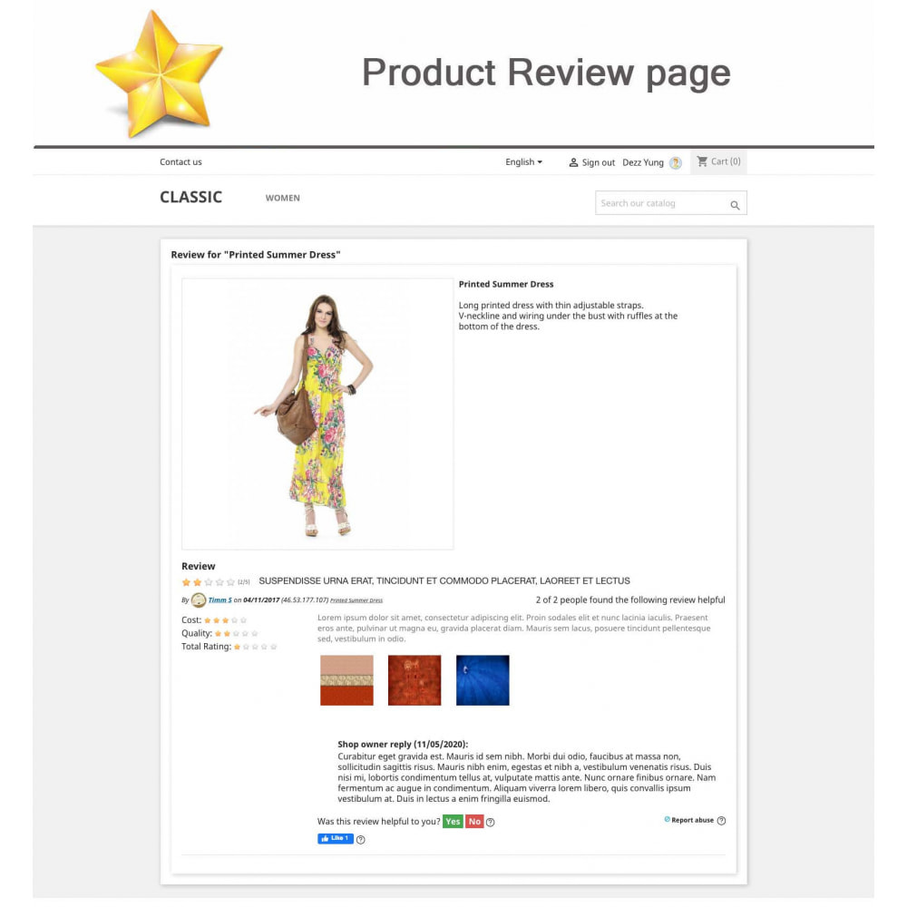 module - Social Widget - Product Reviews PRO + Loyalty Program + User Profile - 10